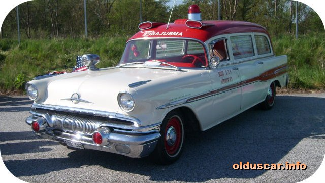 1957 Pontiac [Star Chief Convertible Coupe] Ambulance 5d Superior Coach Company front